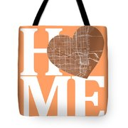 Miami Street Map Home Heart - Miami Florida Road Map In A Heart Tote Bag
