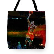 Michael Jordon Tote Bag by Marvin Blaine