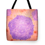 Microscopic View Of Canine Parvovirus Tote Bag