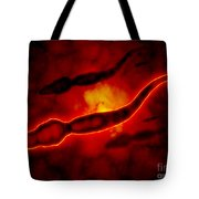 Microscopic View Of Male Sperm Cells Tote Bag