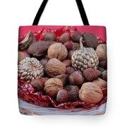 Mixed Holiday Nuts Tote Bag