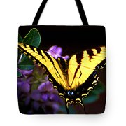 Monarch On Mountain Laurel Tote Bag