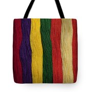 Multicolored Embroidery Thread In Rows Tote Bag