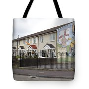 Mural In Shankill, Belfast, Ireland Tote Bag