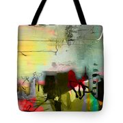 Nashville Skyline Watercolor Tote Bag