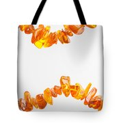 Natural Amber Necklace Tote Bag