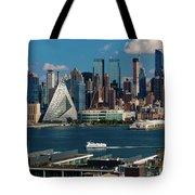 New York City Skyline As Seen Tote Bag