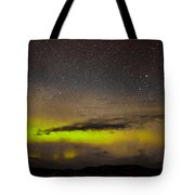 Northern Lights And Myriad Of Stars Tote Bag