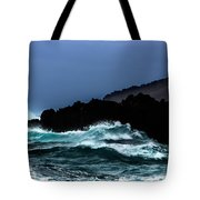 Ocean Foam In Fury Tote Bag
