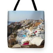 Oia Village Santorini Greece Tote Bag