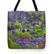 Old Stirling Bridge And Houses As Visible From Stirling Castle Tote Bag