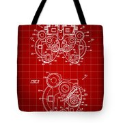 Optical Refractor Patent 1985 - Red Tote Bag