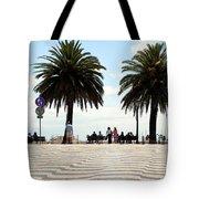 Palm Tree Illusion Tote Bag