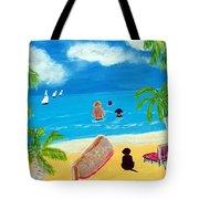 Palmy Beach Tote Bag