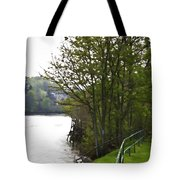 Path On Shore Of River Ness In Inverness Tote Bag