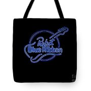 Pbr In Blue Neon Tote Bag
