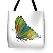 3 Perched Orange Spot Butterfly Tote Bag by Amy Kirkpatrick