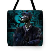 Peruvian Hairless Dog Art Canvas Print Tote Bag