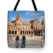 Plaza De Espana Pavilion In Seville Tote Bag