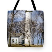 Pointe Aux Barques  Lighthouse Tote Bag