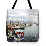 Port Of Aegina Tote Bag