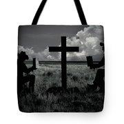 Praying Cowboys Tote Bag