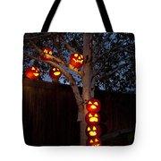 Pumpkin Escape Over Fence Tote Bag