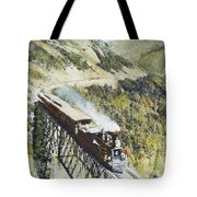 Railroad Bridge, C1870 Tote Bag