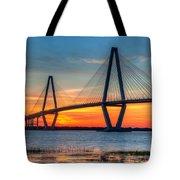 Ravenel Bridge Twilight Twinkle Tote Bag