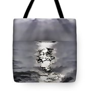 Rays Of Light Shimering Over The Waters Tote Bag