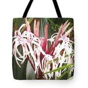 Queen Emma Crinum Lilies Tote Bag