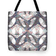 Retro Ornamental Subtraction Of Cube And Sphere Tote Bag