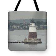 Robbins Reef Lighthouse Tote Bag