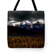 Rocky Mountains In Winter Tote Bag
