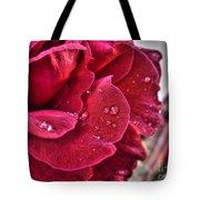 Red Rose And Summer Rain Tote Bag