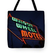 Route 66 - Wagon Wheel Motel Tote Bag