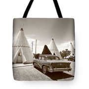 Route 66 Wigwam Motel Tote Bag