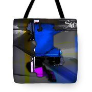 Sacramento Map Watercolor Tote Bag