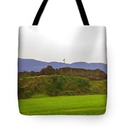 Saltire And The Ruins Of The Urquhart Castle Tote Bag