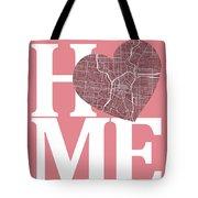 San Antonio Street Map Home Heart - San Antonio Texas Road Map I Tote Bag