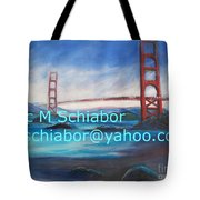 San Francisco Golden Gate Bridge Tote Bag