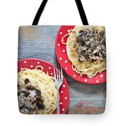 Sardines And Spaghetti Tote Bag by Tom Gowanlock