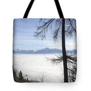 Sea Of Fog Over An Alpine Lake Tote Bag