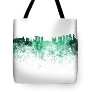 Singapore Skyline In Watercolour On White Background Tote Bag