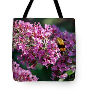 Snowberry Clearwing Hummingbird Moth Tote Bag