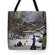 Snowboarding  In Central Park  2011 Tote Bag