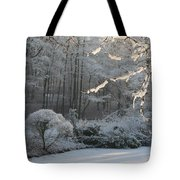 Snowy Trees Landscape Tote Bag