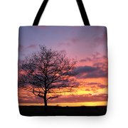 Spectacular Sunset Epsom Downs Surrey Uk Tote Bag