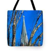 St. Marys Church Steeple Of St Marys Church Tote Bag