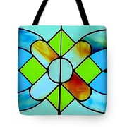 Stained Glass Window Tote Bag by Janette Boyd